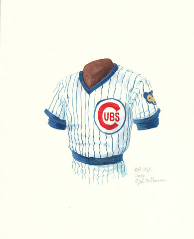 Chicago Cubs 1972 - Heritage Sports Art - original watercolor artwork - 1