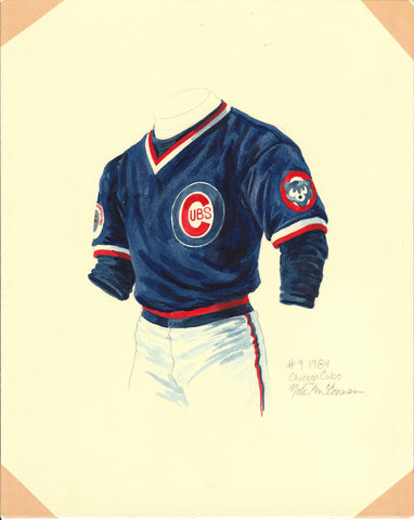 Chicago Cubs 1984 - Heritage Sports Art - original watercolor artwork - 1