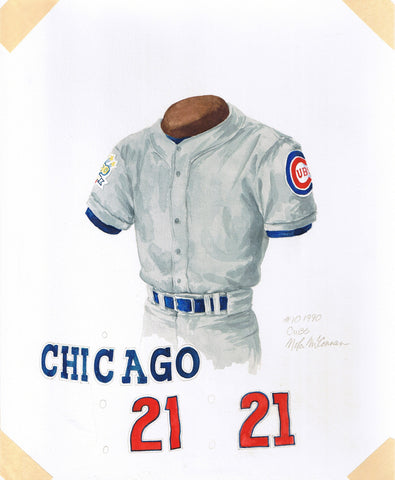 Chicago Cubs 1990 - Heritage Sports Art - original watercolor artwork - 1