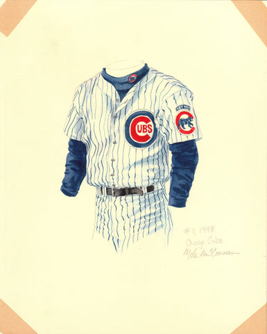 Chicago Cubs 1998 - Heritage Sports Art - original watercolor artwork - 1
