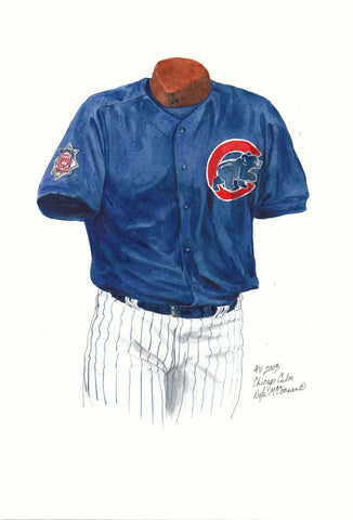 Chicago Cubs 2003 - Heritage Sports Art - original watercolor artwork - 1