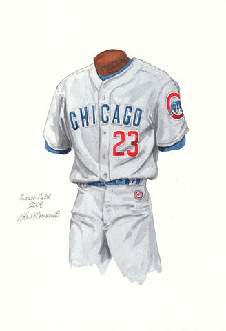 Chicago Cubs 2008 - Heritage Sports Art - original watercolor artwork - 1