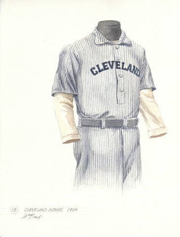 Cleveland Indians 1909 - Heritage Sports Art - original watercolor artwork - 1