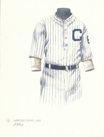 Cleveland Indians 1916 - Heritage Sports Art - original watercolor artwork - 1