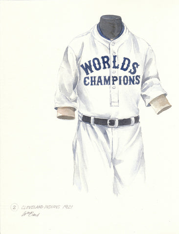 Cleveland Indians 1921 - Heritage Sports Art - original watercolor artwork - 1
