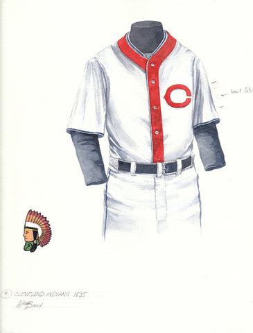 Cleveland Indians 1935 - Heritage Sports Art - original watercolor artwork - 1