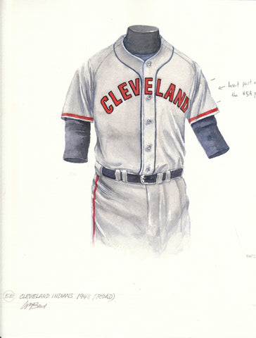 Cleveland Indians 1948 Grey - Heritage Sports Art - original watercolor artwork - 1