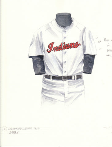 Cleveland Indians 1954 - Heritage Sports Art - original watercolor artwork - 1