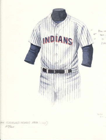 Cleveland Indians 1970 - Heritage Sports Art - original watercolor artwork - 1