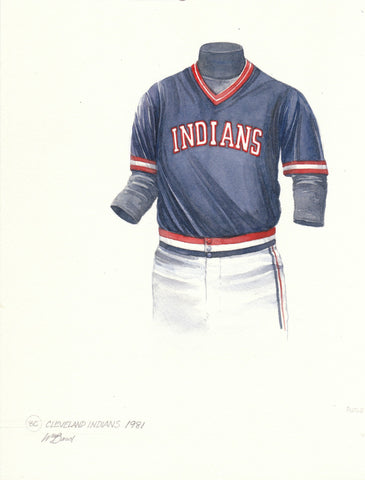 Cleveland Indians 1981 - Heritage Sports Art - original watercolor artwork - 1