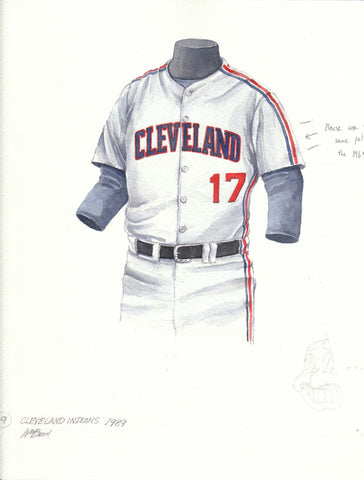 Cleveland Indians 1989 - Heritage Sports Art - original watercolor artwork - 1