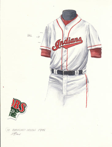 Cleveland Indians 1995 - Heritage Sports Art - original watercolor artwork - 1