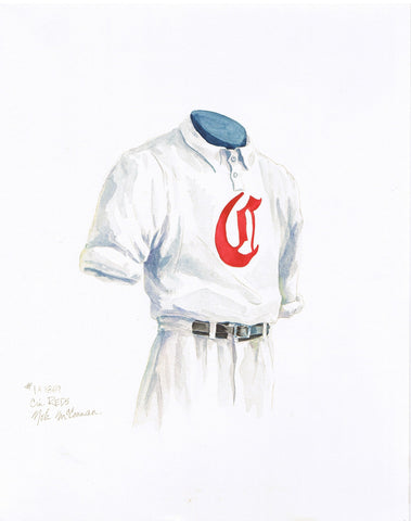 Cincinnati Reds 1869 - Heritage Sports Art - original watercolor artwork - 1