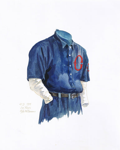 Cincinnati Reds 1909 - Heritage Sports Art - original watercolor artwork - 1