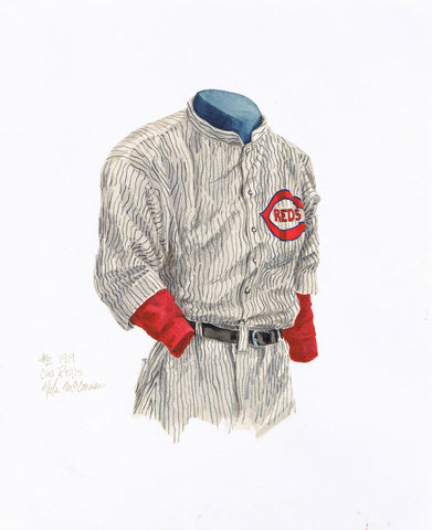 Cincinnati Reds 1919 - Heritage Sports Art - original watercolor artwork - 1