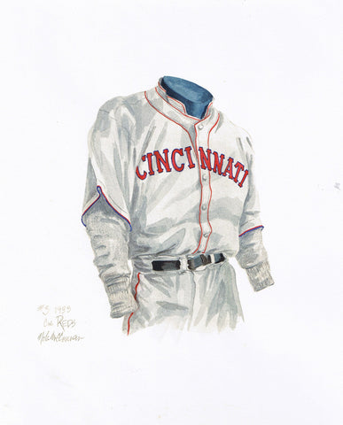 Cincinnati Reds 1933 - Heritage Sports Art - original watercolor artwork - 1