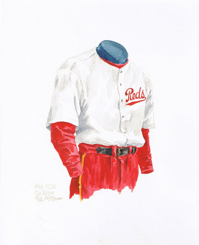 Cincinnati Reds 1936 - Heritage Sports Art - original watercolor artwork - 1