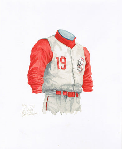 Cincinnati Reds 1956 - Heritage Sports Art - original watercolor artwork - 1