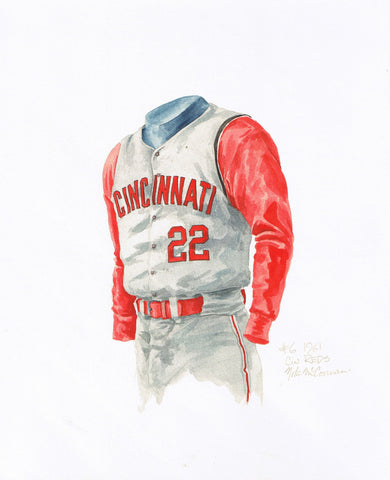 Cincinnati Reds 1961 - Heritage Sports Art - original watercolor artwork - 1