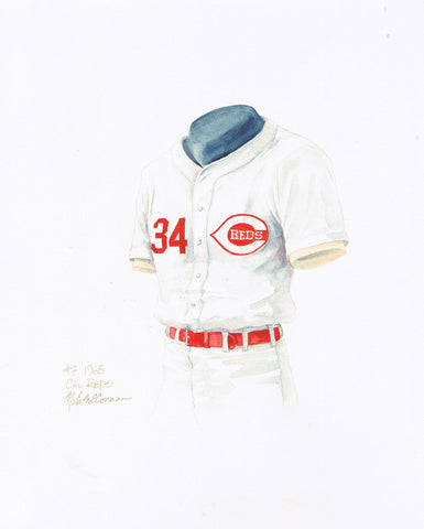 Cincinnati Reds 1968 - Heritage Sports Art - original watercolor artwork - 1