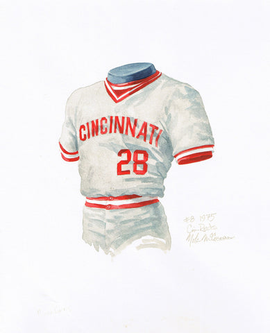 Cincinnati Reds 1975 - Heritage Sports Art - original watercolor artwork - 1