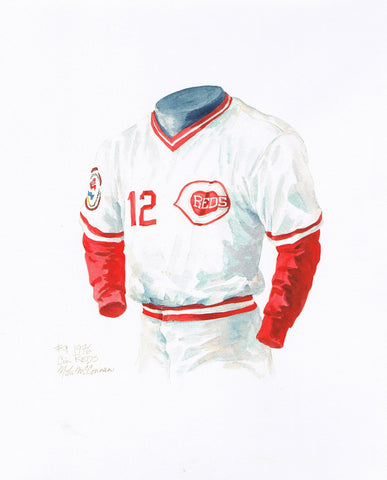 Cincinnati Reds 1976 - Heritage Sports Art - original watercolor artwork - 1