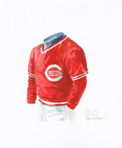 Cincinnati Reds 1983 - Heritage Sports Art - original watercolor artwork - 1