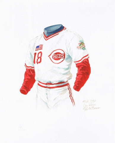 Cincinnati Reds 1990 - Heritage Sports Art - original watercolor artwork - 1