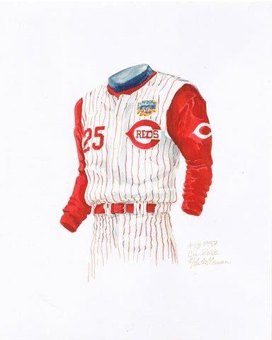 Cincinnati Reds 1997 - Heritage Sports Art - original watercolor artwork - 1