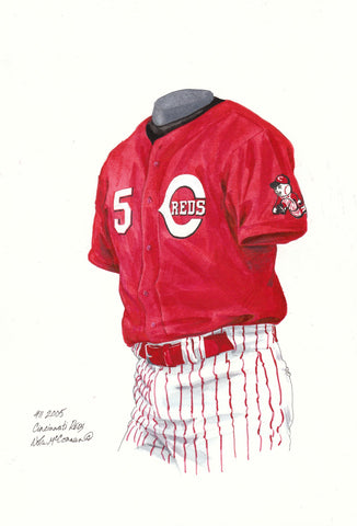 Cincinnati Reds 2005 - Heritage Sports Art - original watercolor artwork - 1