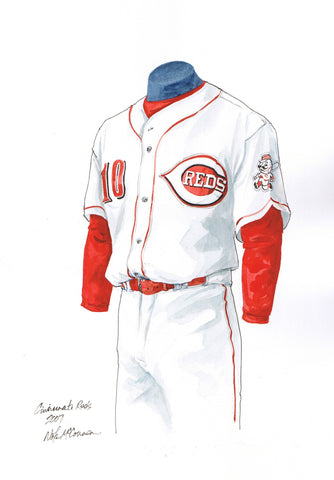 Cincinnati Reds 2007 - Heritage Sports Art - original watercolor artwork - 1