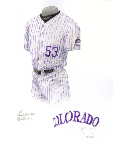Colorado Rockies 2001 - Heritage Sports Art - original watercolor artwork - 1