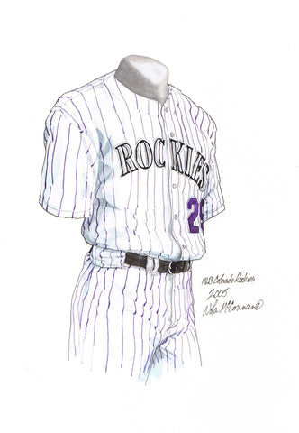 Colorado Rockies 2005 - Heritage Sports Art - original watercolor artwork - 1