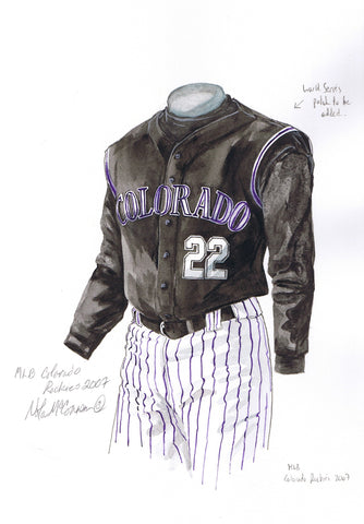 Colorado Rockies 2007 - Heritage Sports Art - original watercolor artwork - 1