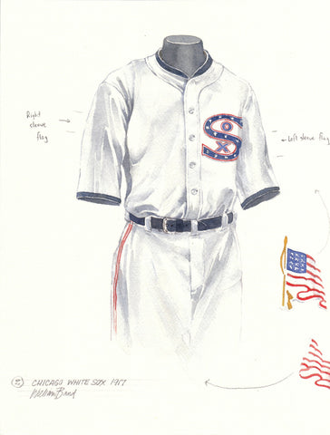 Chicago White Sox 1917 - Heritage Sports Art - original watercolor artwork - 1