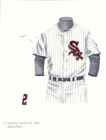 Chicago White Sox 1959 - Heritage Sports Art - original watercolor artwork - 1