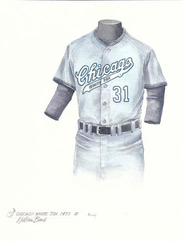 Chicago White Sox 1970 Grey-blue - Heritage Sports Art - original watercolor artwork - 1
