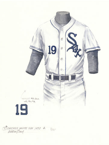 Chicago White Sox 1970 White - Heritage Sports Art - original watercolor artwork - 1