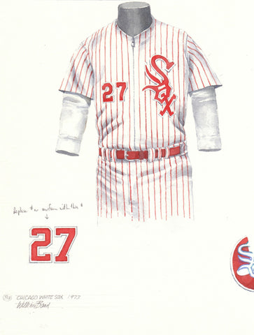 Chicago White Sox 1973 - Heritage Sports Art - original watercolor artwork - 1