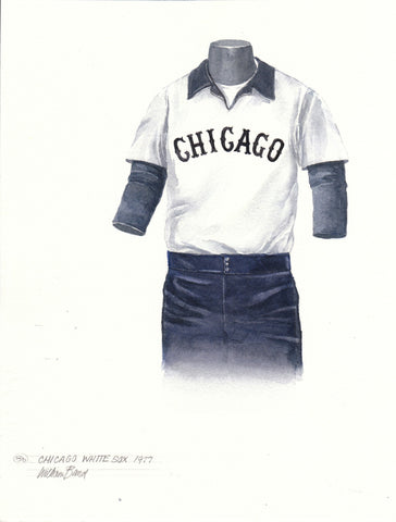 Chicago White Sox 1977 - Heritage Sports Art - original watercolor artwork - 1