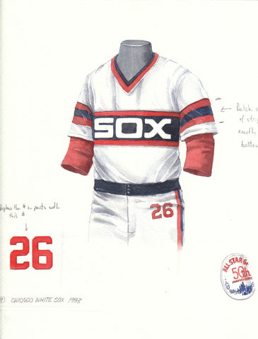 Chicago White Sox 1983 - Heritage Sports Art - original watercolor artwork - 1