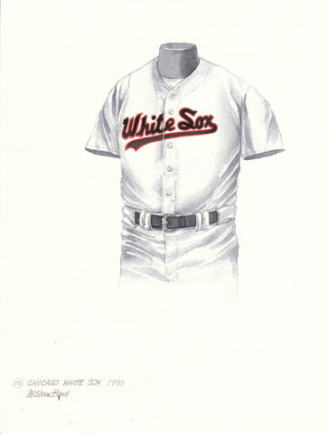 Chicago White Sox 1990 - Heritage Sports Art - original watercolor artwork - 1