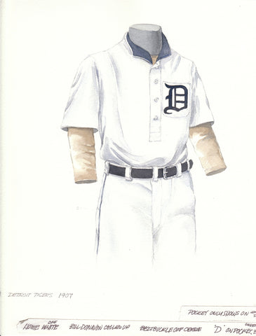 Detroit Tigers 1907 - Heritage Sports Art - original watercolor artwork - 1