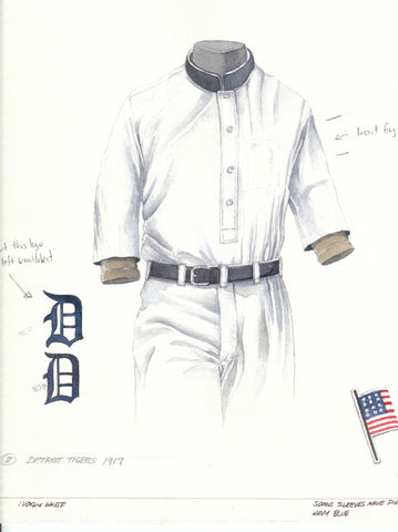 Detroit Tigers 1917 - Heritage Sports Art - original watercolor artwork - 1
