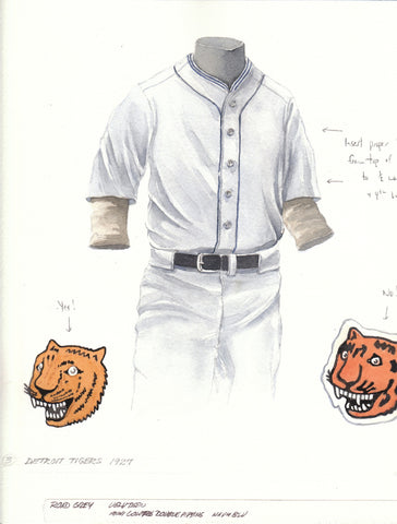 Detroit Tigers 1927 - Heritage Sports Art - original watercolor artwork - 1