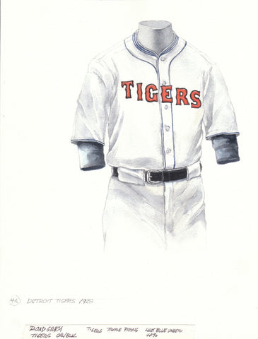 Detroit Tigers 1928 - Heritage Sports Art - original watercolor artwork - 1