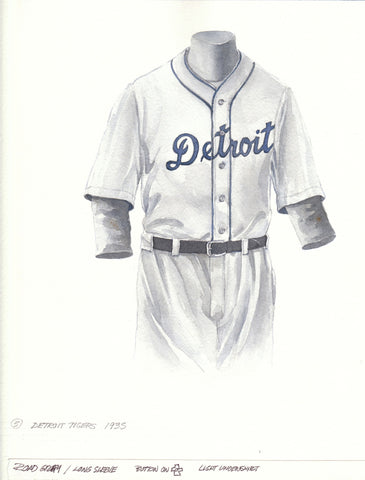 Detroit Tigers 1935 - Heritage Sports Art - original watercolor artwork - 1