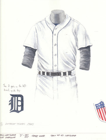 Detroit Tigers 1945 - Heritage Sports Art - original watercolor artwork - 1