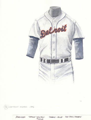 Detroit Tigers 1956 - Heritage Sports Art - original watercolor artwork - 1