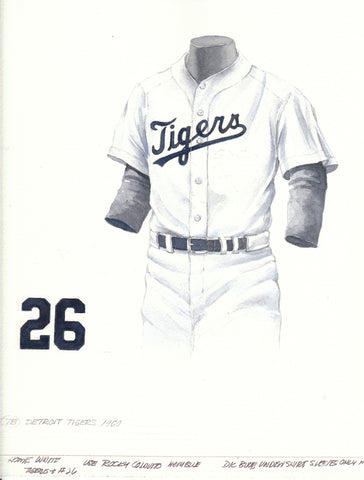 Detroit Tigers 1960 - Heritage Sports Art - original watercolor artwork - 1